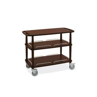 Trolley 3-floor wood 110x56x113cm