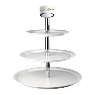 Cake pallet melamine 3-floor ø31/41/51cm h-55cm white