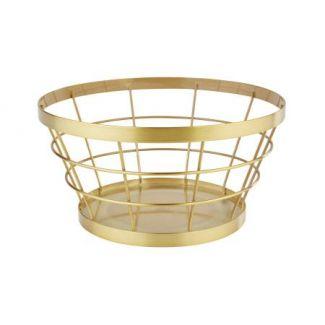 Basket ø21cm h-11cm gold