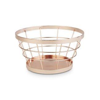 Basket ø21cm h-11cm copper color